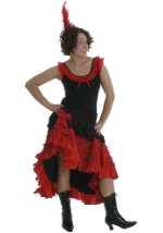 Adult Red Saloon Girl Costume