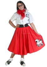 Red Poodle Skirt Costume