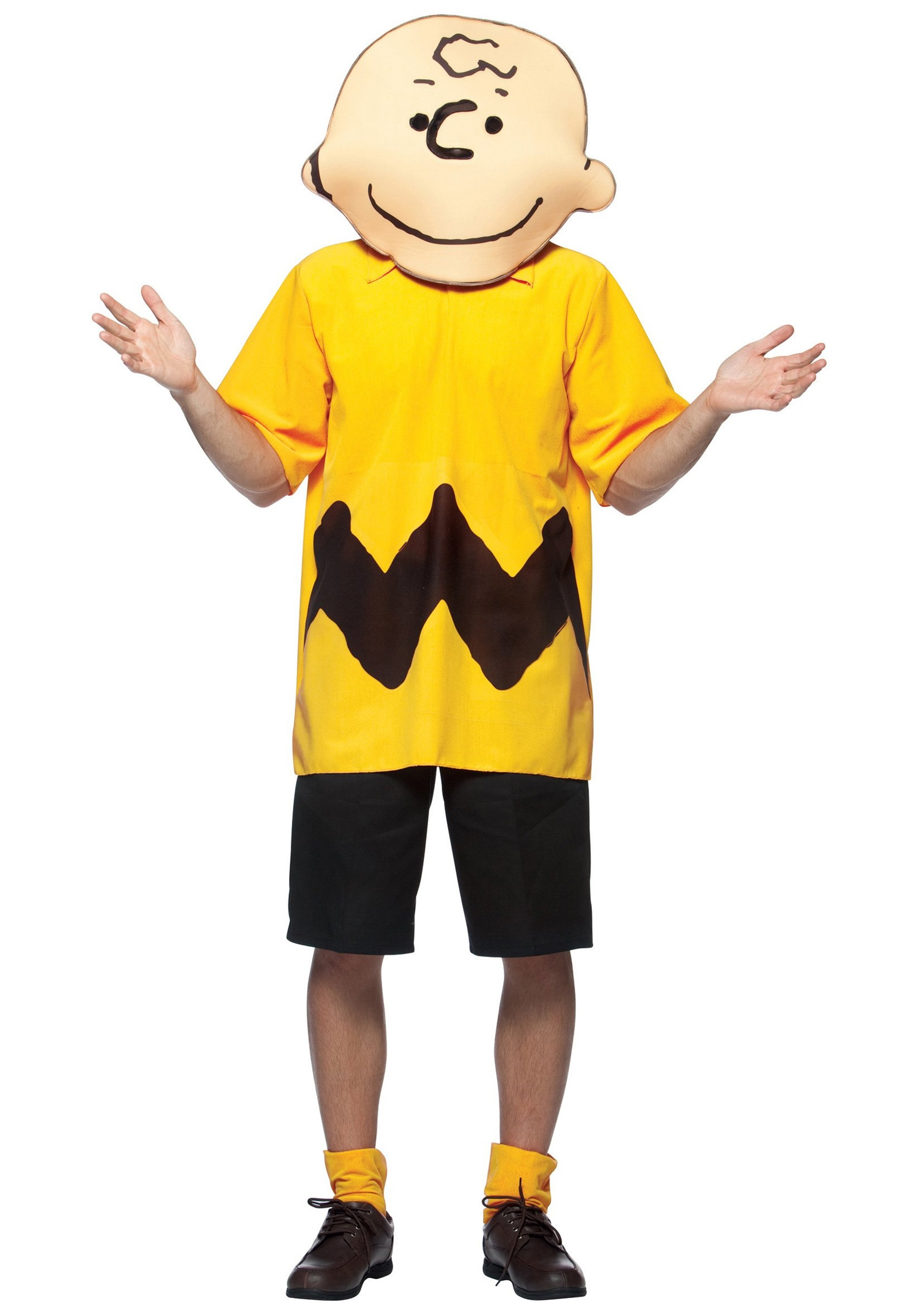 Adult Charlie Brown Costume  sc 1 st  Costumes Galore & Adult Charlie Brown Costume - Peanuts Costumes