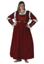 Plus Size Dark Red Renaissance Dress