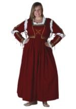 Plus Size Dark Red Renaissance Dress