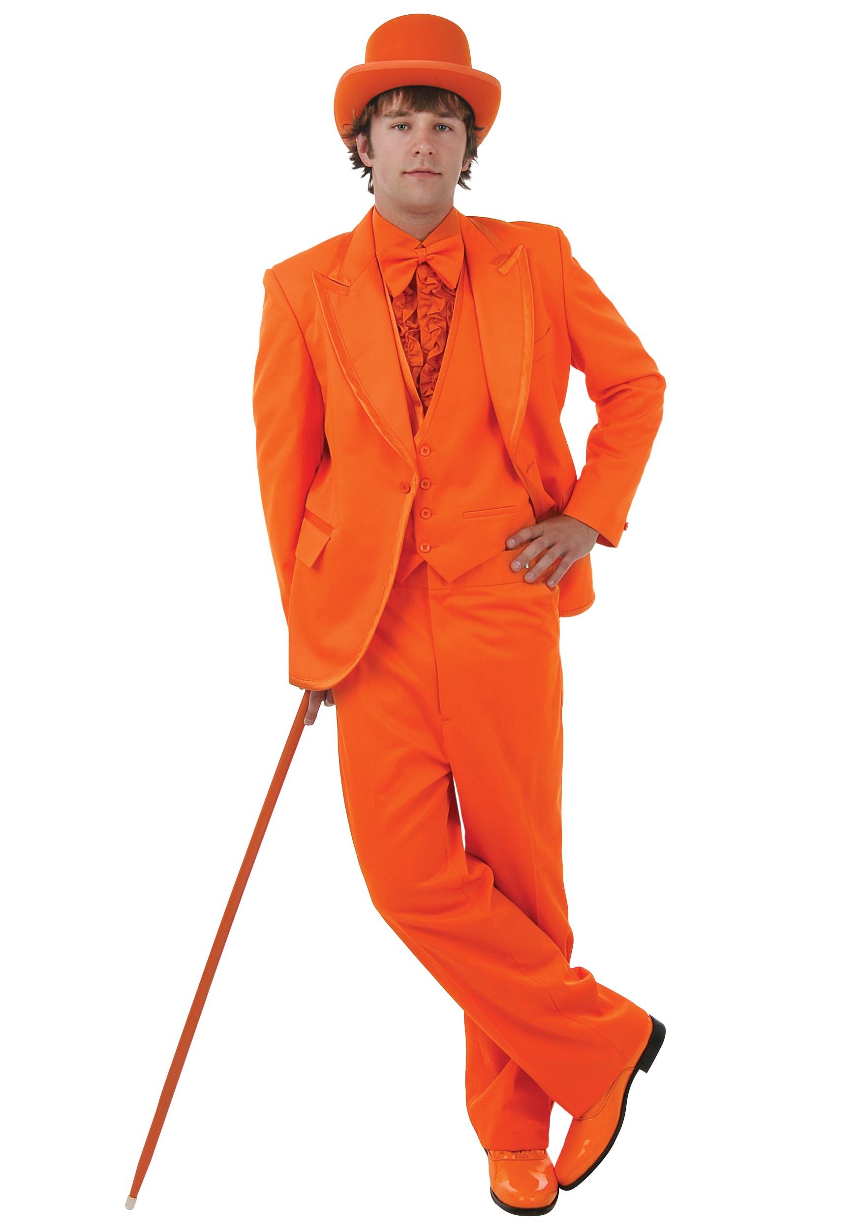 Deluxe Orange Tuxedo - Prom Tuxedo Rentals