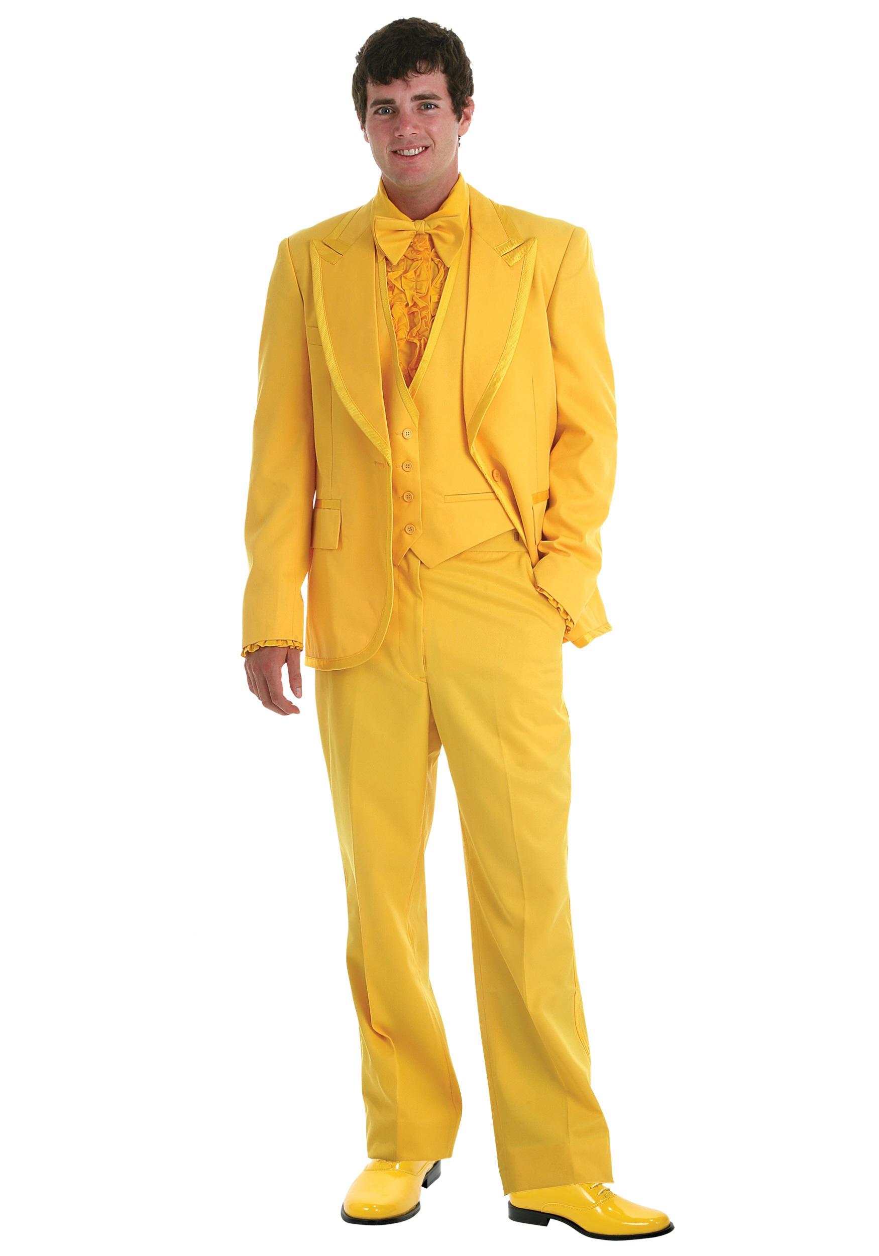 Men\'s Yellow Tuxedo - Prom Tuxedo Rentals